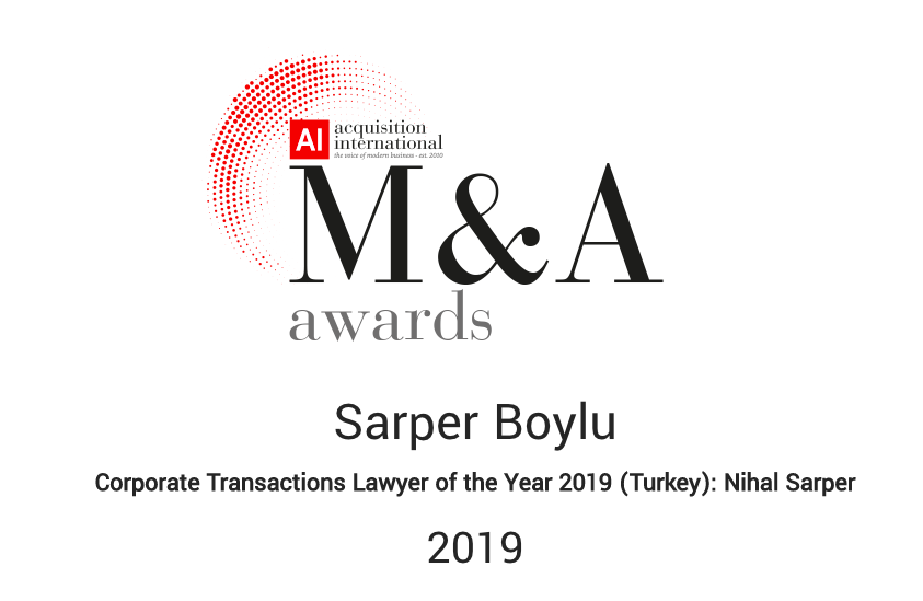 Corporate Transactions Lawyer of the Year 2019 (Turkey): Nihal Sarper